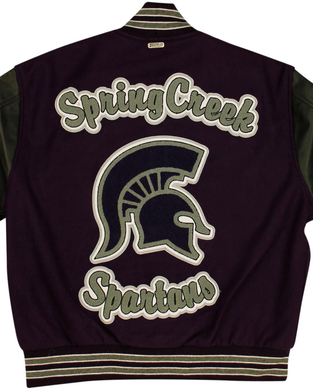 Spring Creek High School Letterman Jacket, Spring Creek NV - Back