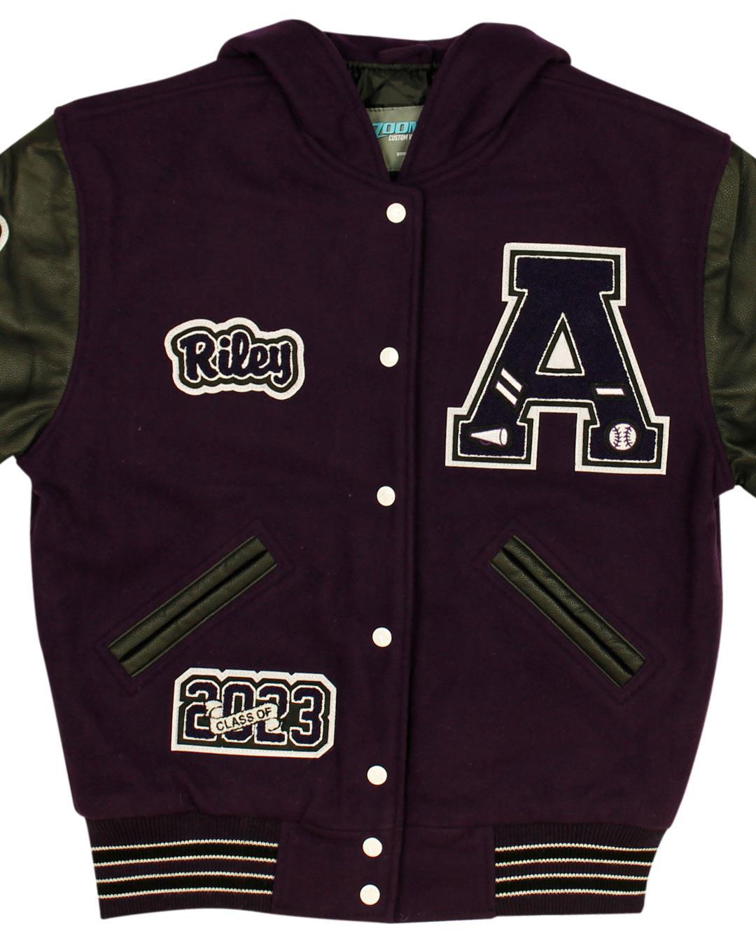 Anacortes High School Letterman Jacket, Anacortes WA - Front